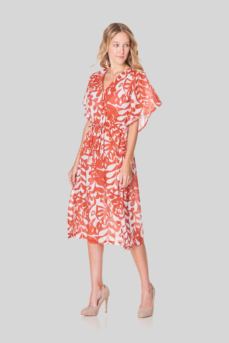Voglia Finland women's orange cotton dress