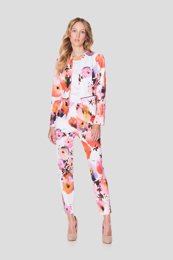Voglia Finland women's slim cotton flower trousers