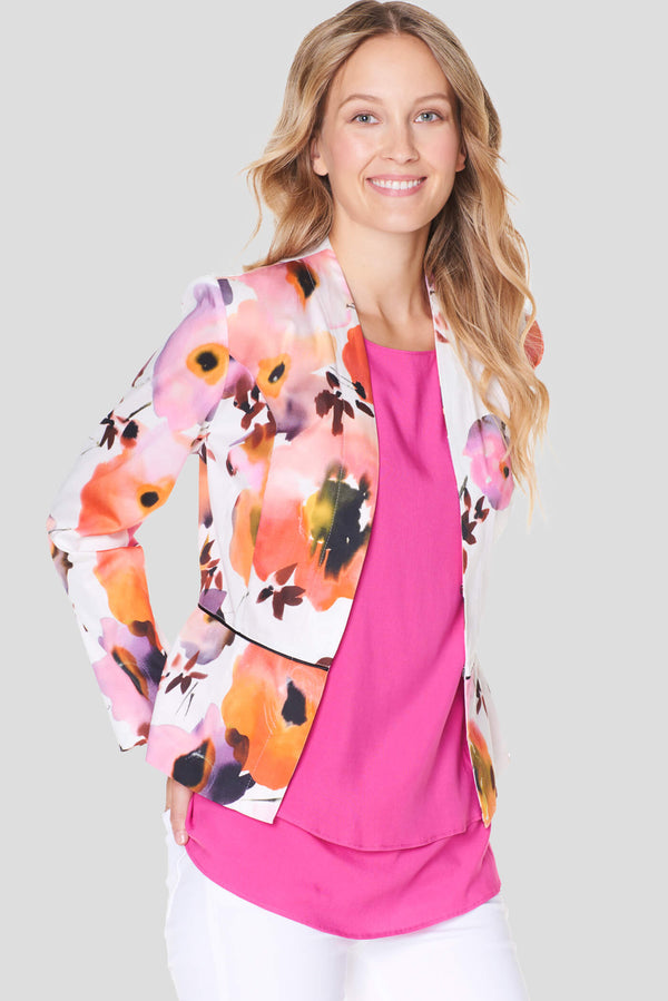 Voglia Finland women's flowery cotton jacket