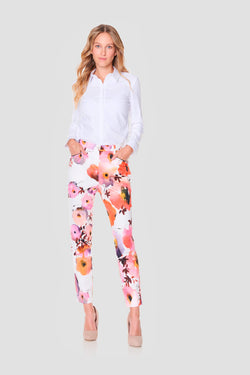 Voglia Finland women's flower trousers slim