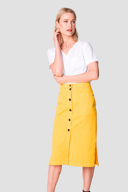 Voglia Finland women's long yellow cotton skirt
