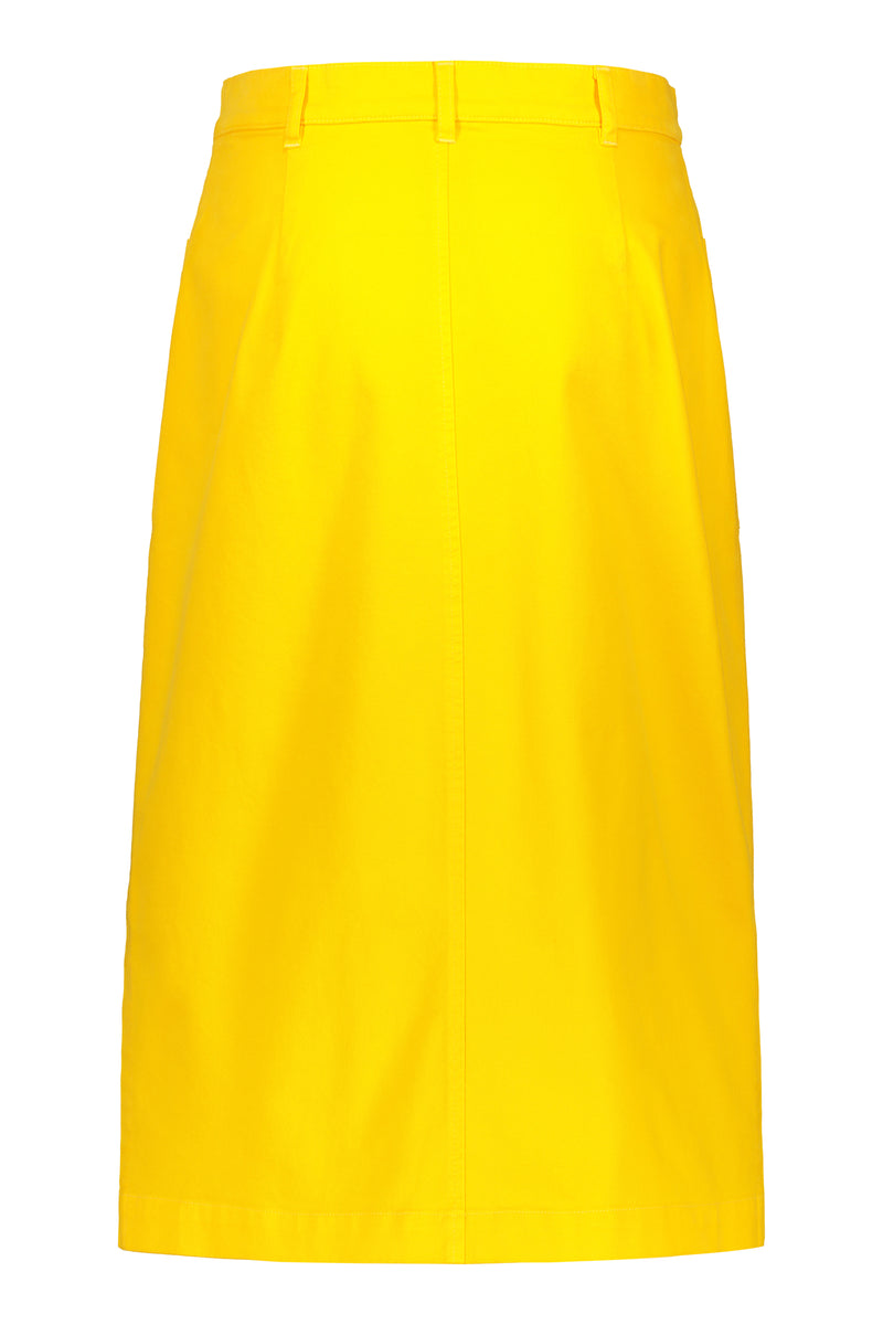 Voglia Finland women's yellow cotton skirt behind