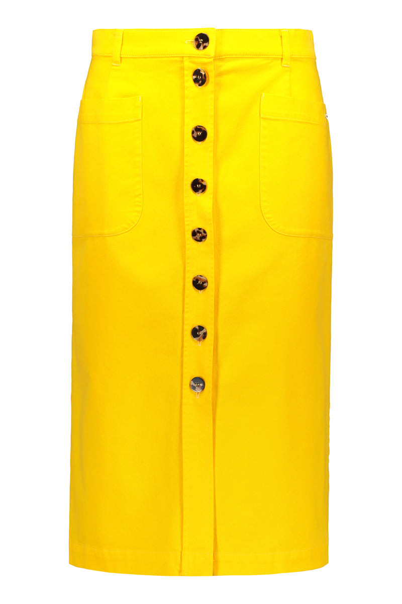 Voglia Finland women's yellow cotton skirt