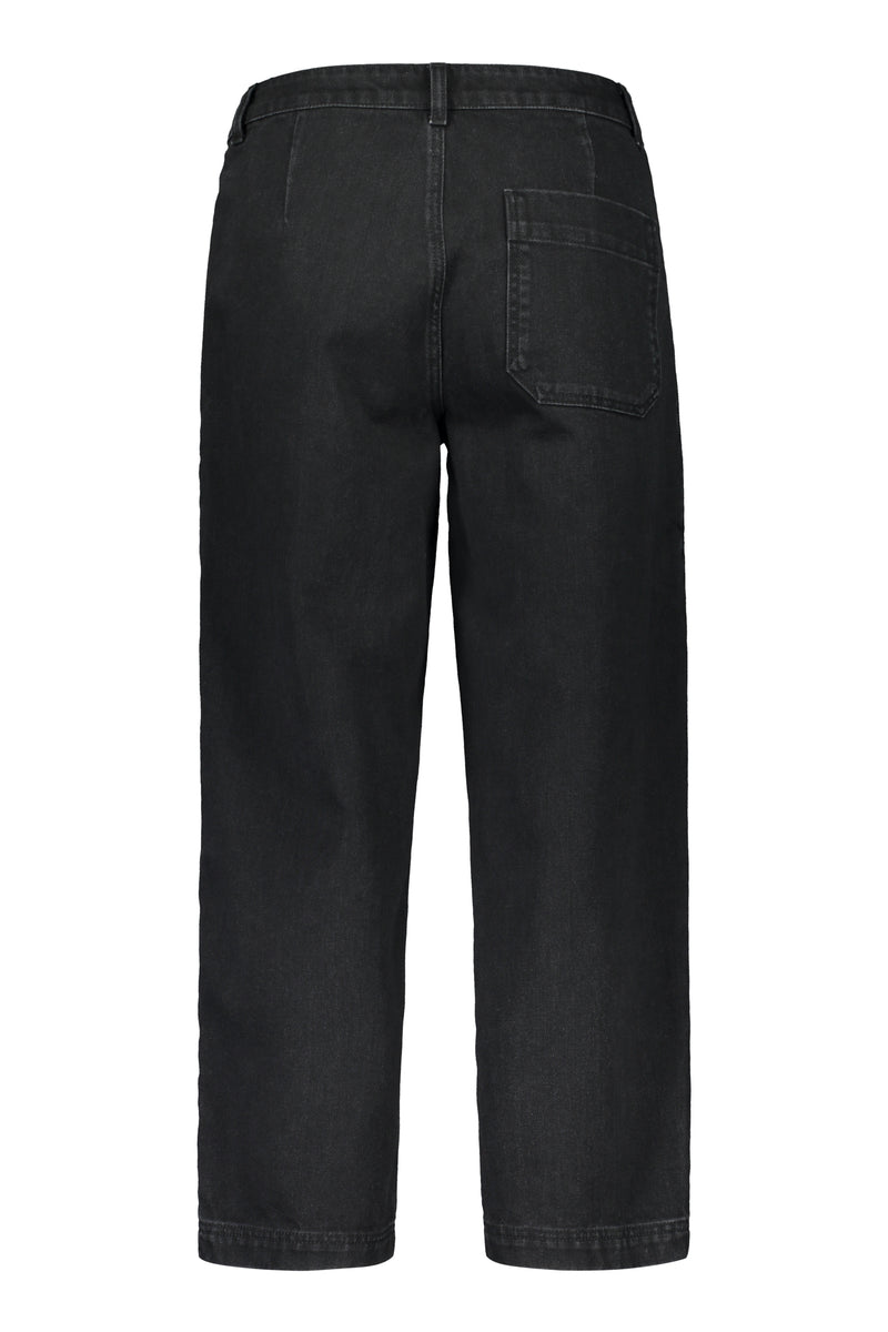 Voglia Finland workwear ankle jeans black denim back