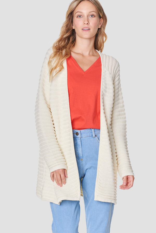 Voglia Finland women's white cotton cardigan