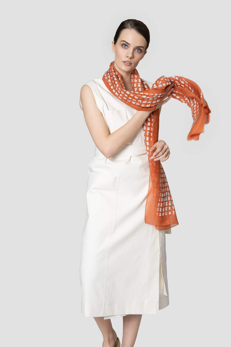 Thin Patterned Scarf