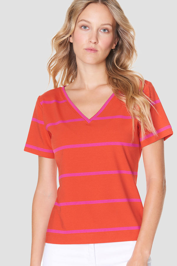 Voglia women's striped tricot shirt