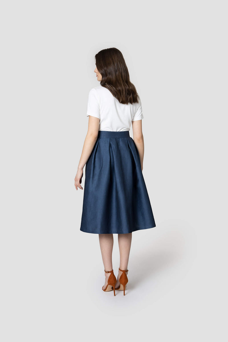 voglia women's skirt with pockets behind
