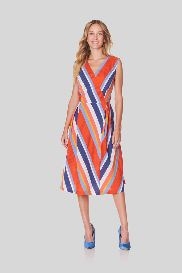 Voglia women's striped dress