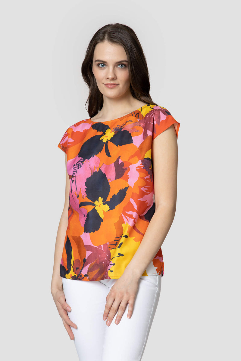 Voglia women's colorful cotton top