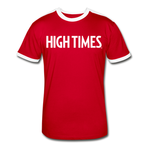 High Times Men's Retro T-Shirt - red/white