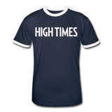 High Times Men's Retro T-Shirt - navy/white