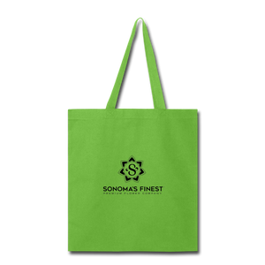 Sonoma's Finest Tote Bag - lime green