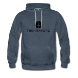 ThriveHydro Mens Hoodie - heather denim