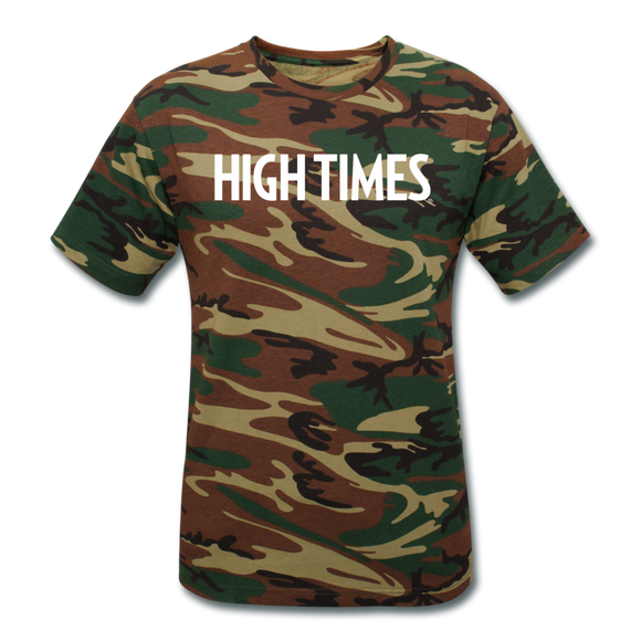 High Times Unisex Camouflage T-Shirt - green camouflage