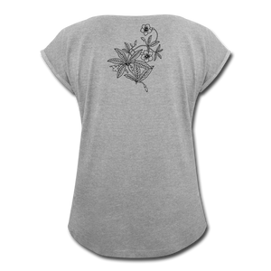 High Times Women's Roll Cuff T-Shirt - heather gray