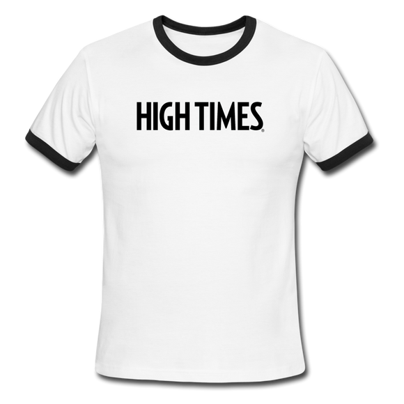 High Times Men's Ringer T-Shirt - white/black