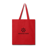 Sonoma's Finest Tote Bag - red