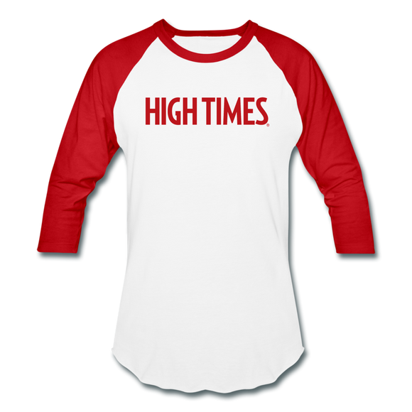 High Times Baseball T-Shirt - white/red