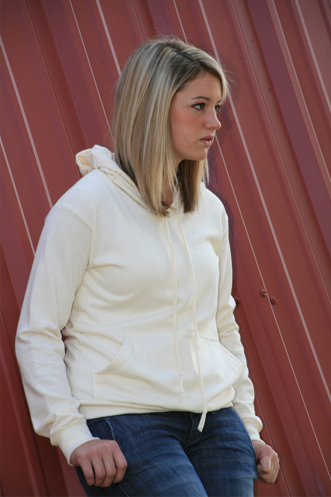 Organic Cotton Pullover Hoody- Unisex (wholesale)