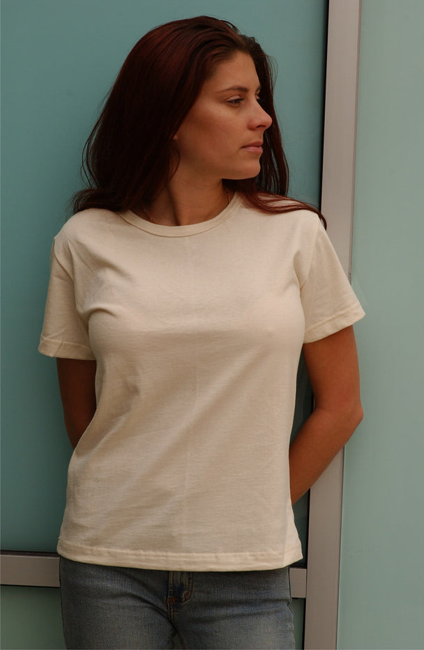 130  Ladies' Scoop Neck Organic Cotton Tee (wholesale)