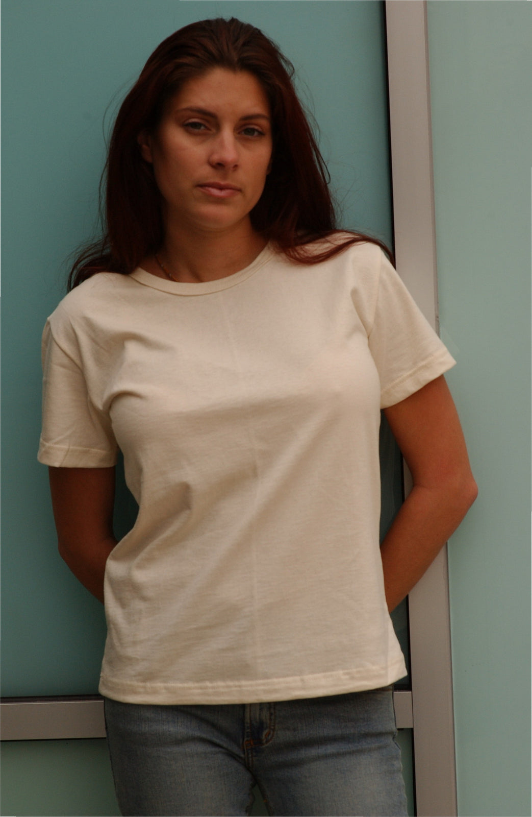 130  Ladies Scoop Neck Organic Cotton Tee (wholesale)
