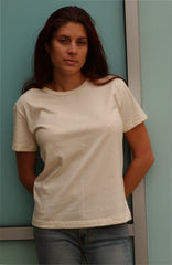 130  Ladies Scoop Neck Organic Cotton Tee