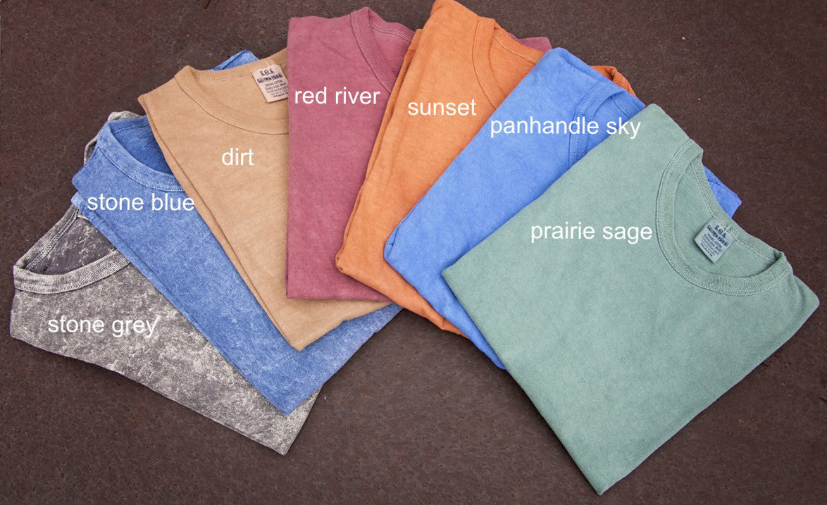 SW100  Sunwashed Organic Cotton Crew (wholesale)