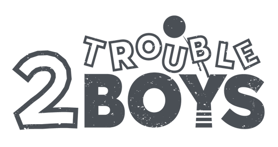 2troubleboys sells personalized birthday clothing for young boys including rompers, shirts, hats, crowns, and matching family outfits