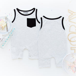 TroubleBoy® Gray Shorts Romper