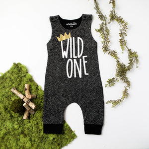 Wild One Romper. 1st Birthday Outfit. Wild One Shirt. Baby Boy 1st Birthday. Baby boy outfit. Baby Boy Romper. Baby Fashion. Trendy Baby