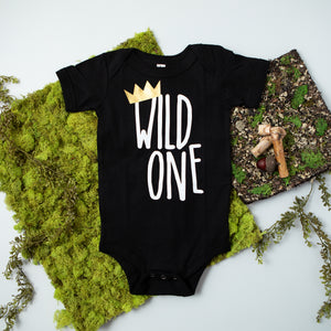 Wild One First Birthday Bodysuit