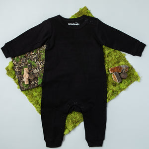 TroubleBoy® Black Long Sleeve Blank Romper