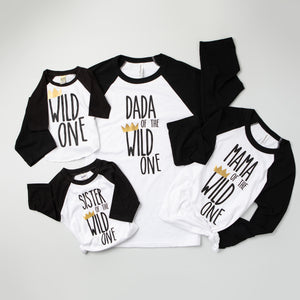 Parent of Wild One Adult Raglan