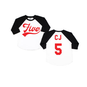 Birthday Baseball Raglan
