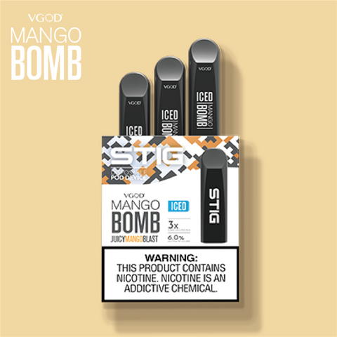 VGOD STIG Ultra Portable Disposable Vape Pen - Mango Bomb Australia Vape Pen Zone Electric Cigarette