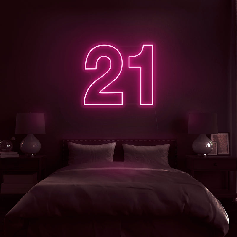 '21' Neon Sign - Nuwave Neon