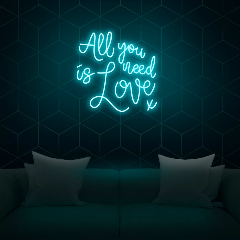 'All You Need Is Love' Neon Sign