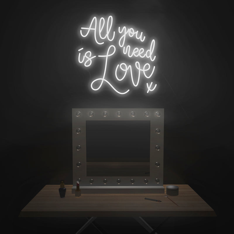 'All You Need Is Love' Neon Sign - Nuwave Neon