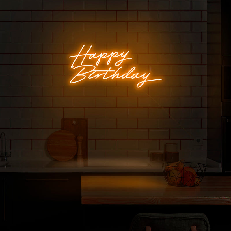 'Happy Birthday' Neon Sign - Nuwave Neon