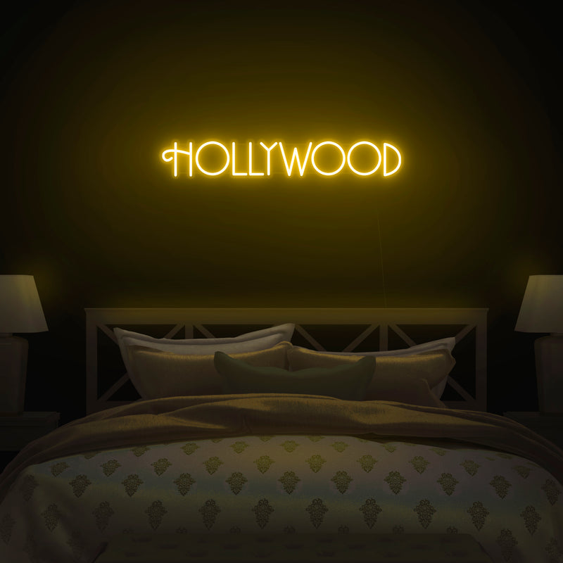 'Hollywood' V2 Neon Sign - Nuwave Neon