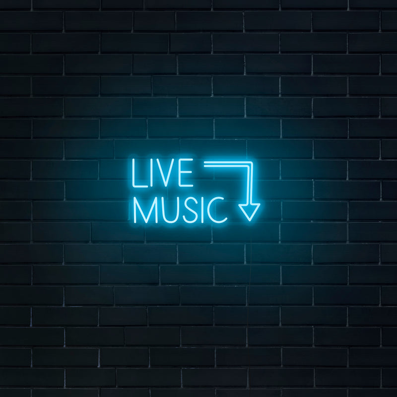 'Live Music' Neon Sign - Nuwave Neon