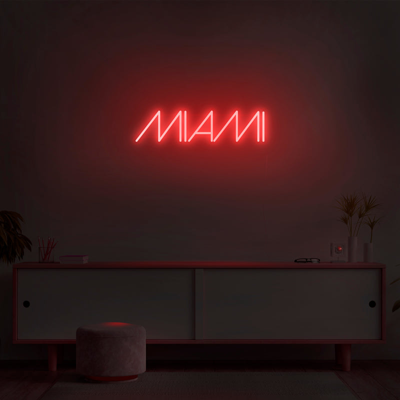 'Miami' Neon Sign - Nuwave Neon