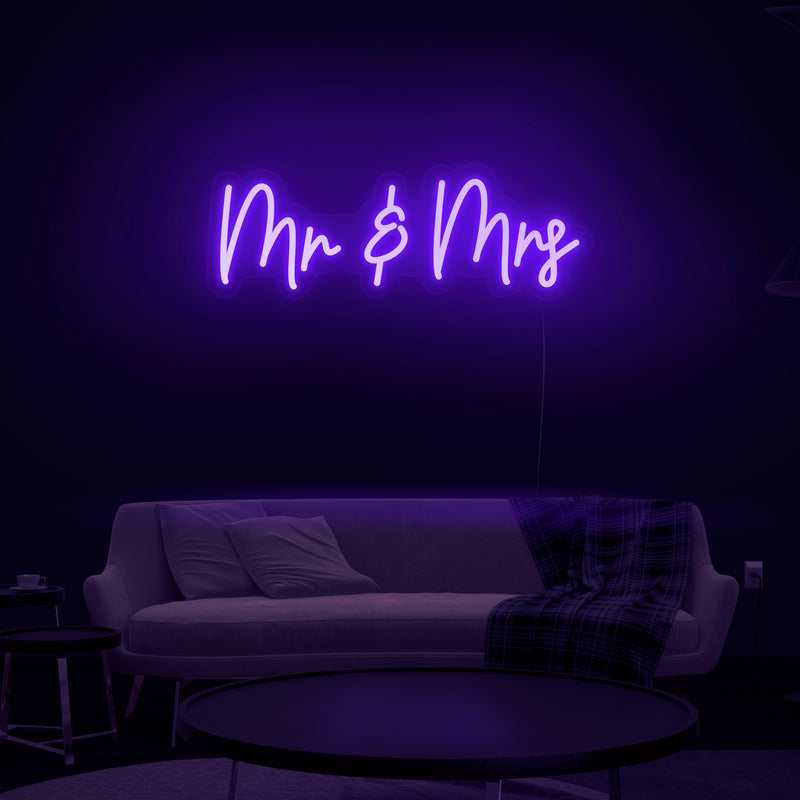 'Mr And Mrs' Neon Sign - Nuwave Neon