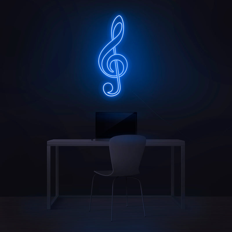 'Treble Clef' Neon Sign - Nuwave Neon