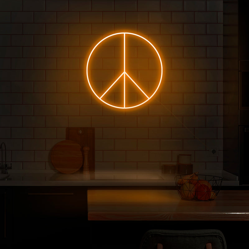'Peace Sign' Neon Sign - Nuwave Neon