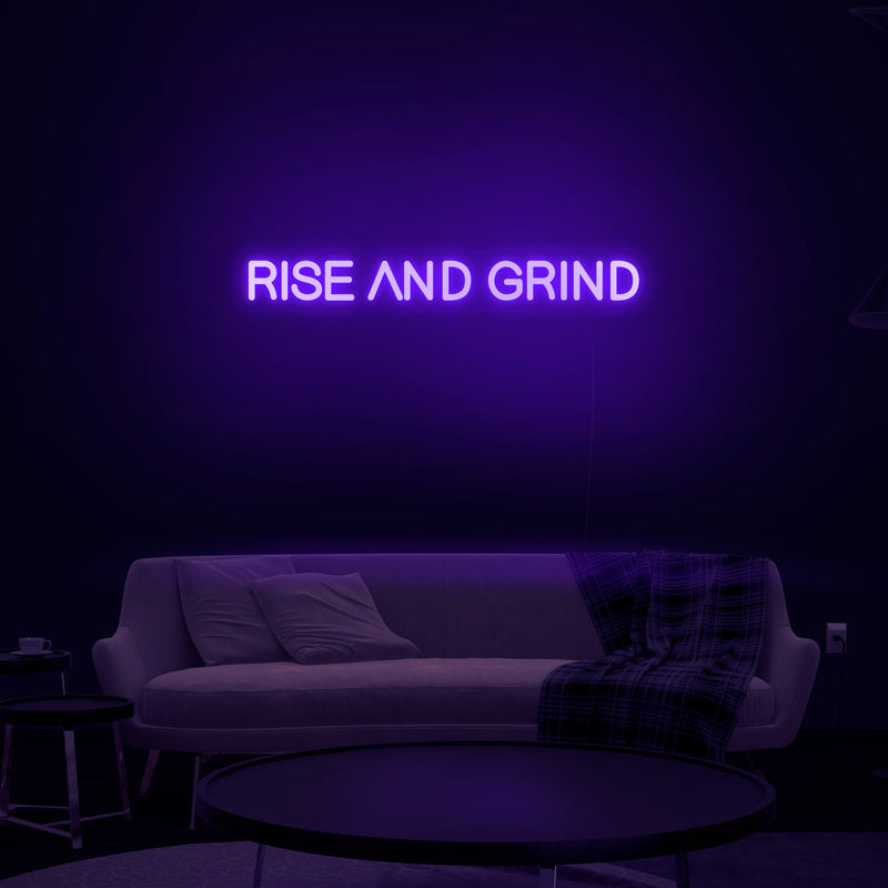 'Rise And Grind' Neon Sign - Nuwave Neon