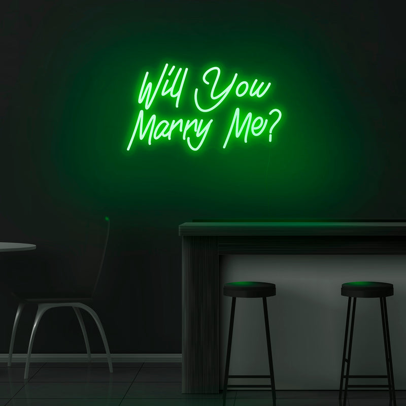 'Will You Marry Me?' Neon Sign - Nuwave Neon