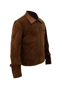 ALLIED BRAD PITT BROWN SUEDE LEATHER JACKET - 3amoto