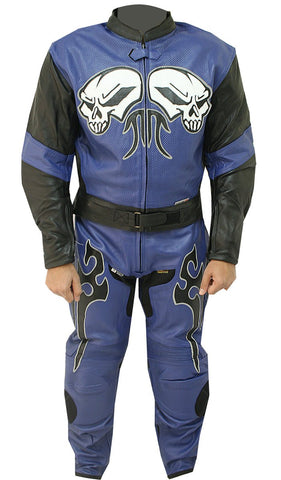 Blue Moon Motorbike Leather Suit - 3amoto